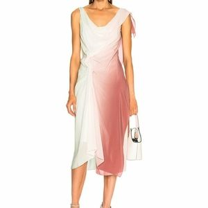 ❌SOLD❌Sies Marjan Rosette Draped Twist Dress